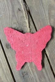 Vlinder 10 cm rood