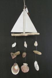 Boot met schelpen 17 cm