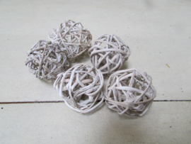 Bal 5 cm 5 stuks wit
