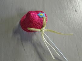 Hoedje roze 6 cm