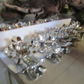 Kaarsenhoudertje zilver