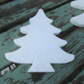 Styropor snijvorm kerstboom middel 24cm