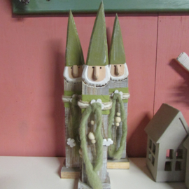Houten kabouter groen 40 cm