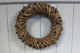 Krans 35 cm bruin