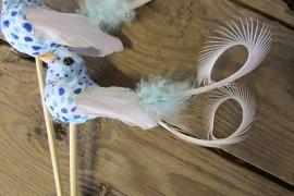 Vogeltje op steker blauw per 2