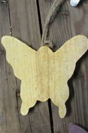 Vlinder 10 cm geel