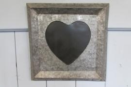 Zinken krijtbord met hart
