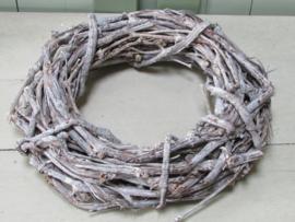 Krans van druiventakken wit (old look) 32 cm