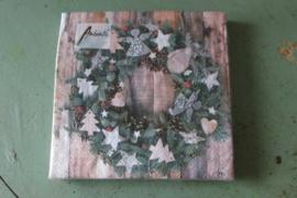 Kerstservetten XMAS wreath normaal formaat