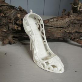 Schoentje wit/glitter