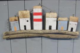 Kapstok met huisjes 60 cm