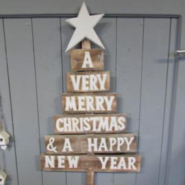 Kerstboom met tekst €31,95 (geen standaard verzendkosten)