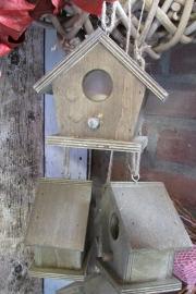 Vogelhuisje op stok naturel (alleen afhalen)