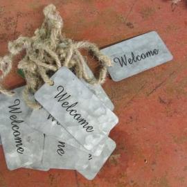Label van zink ,  welcome