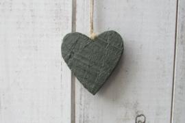 Hart  donker groen 10 cm