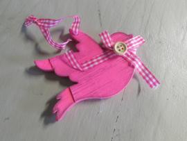 Vogel  10 cm roze