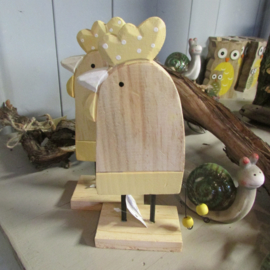 Kip van hout, 20 cm