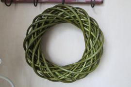 Krans  35 cm olijfgroen