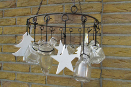 Kerstkrans voor aan het plafond  ( 1 kerstboompje beschadigd)