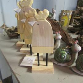 Kip van hout, 16,5 cm