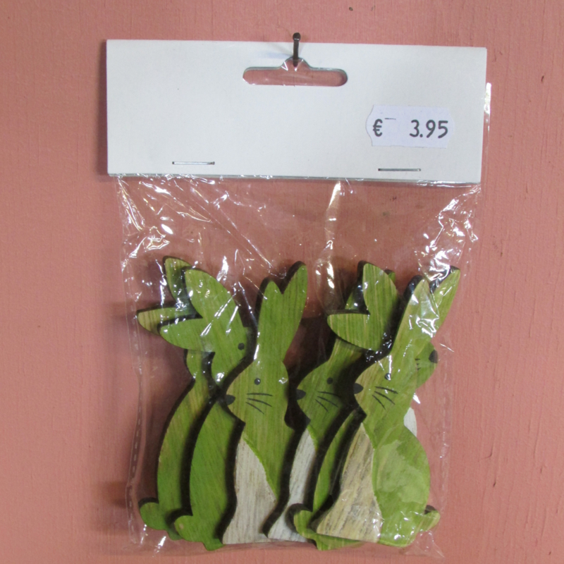 Konijntjes groen 9 cm