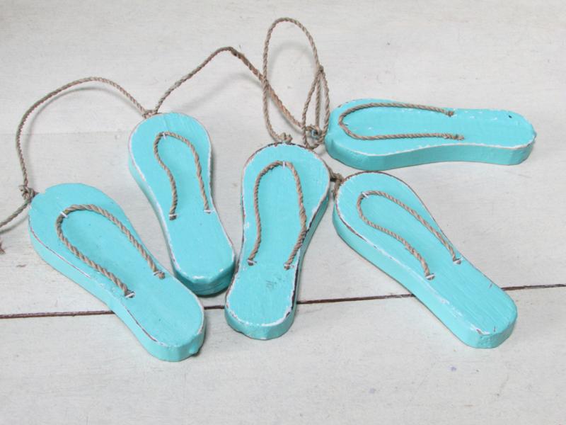 Slipper guirlande, zeegroen/turquoise