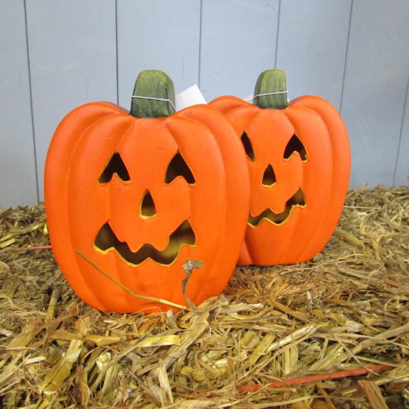Halloween Verlichting.Pompoen Led Verlichting 13cm Alleen Af Te Halen