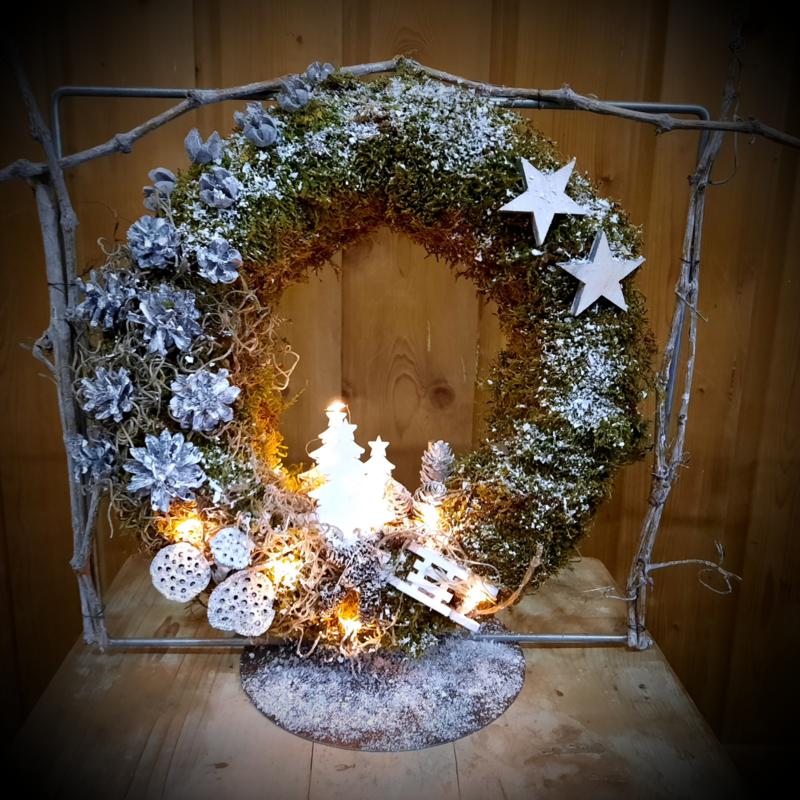 Kerstkrans Winter Wonderland thuispakket