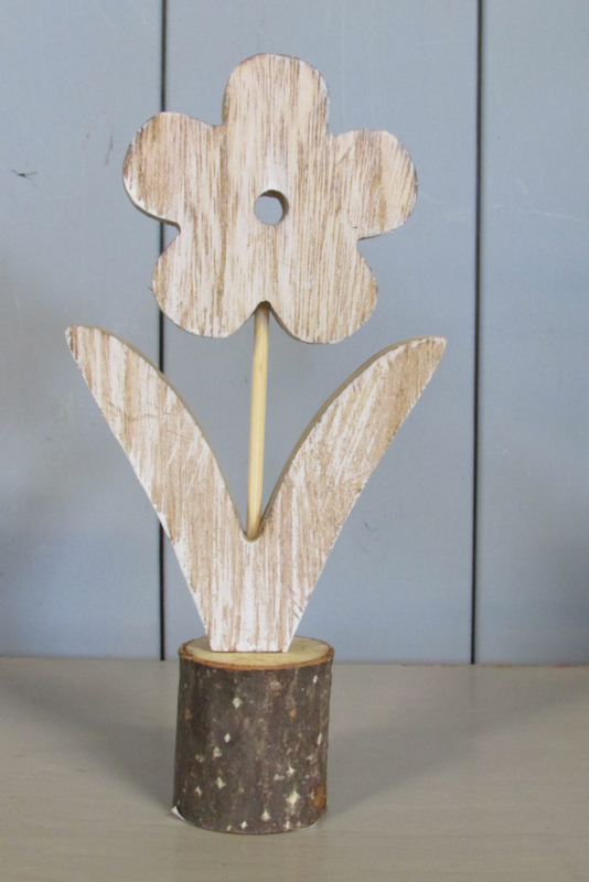 Bloemetje van hout 20 cm