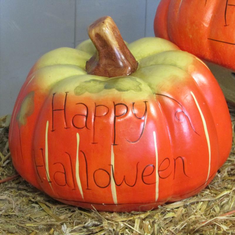 Pompoen En Halloween.Pompoen 26 Cm Happy Halloween Alleen Af Te Halen
