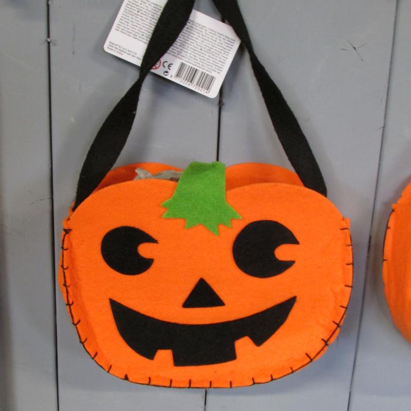 Pompoen En Halloween.Trick Or Treat Tasje Pompoen Pompoenen En Halloween