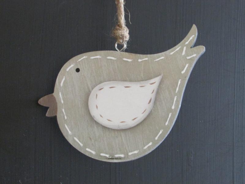Vogel van hout, 13 cm