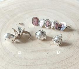 Foto medaillon zilver - zilveren foto bol M, L of XL