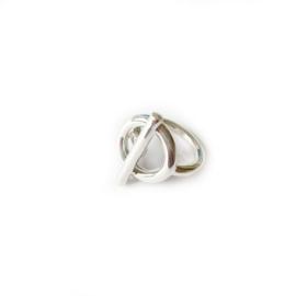 Ring zilver strak design