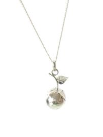 Zwangerschapsketting zilver appel/ zwangerschapsbelletje zilver