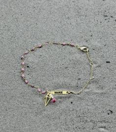 Trophy Hunt armband roze agaat
