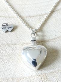 Ashanger zilver hart
