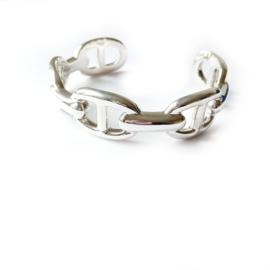 Armband zilver design - half open zilveren armband