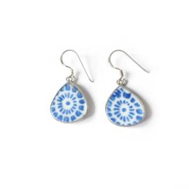 Oorhangers zilver Ming Jewelry - oorbellen zilver Ming porselein