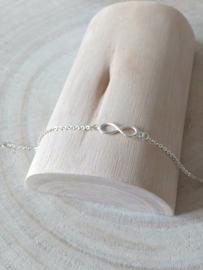 Armband sterling zilver infinity, oneindigheid teken, eeuwige vriendschap