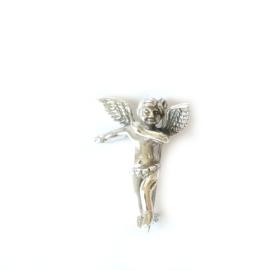 Broche zilveren engel - beschermengel zilver