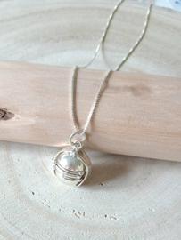 Zilver 925 fotobol Small, fotohanger, medaillon