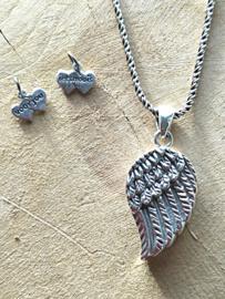 Assieraad vleugel zilver