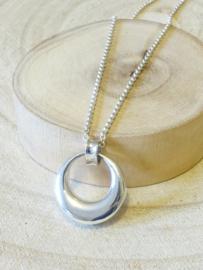 Ashanger cirkel, het oneindige , assieraad zilver
