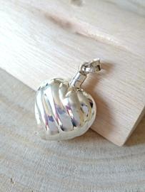 Zilver 925 hart hanger, gedenksieraad, gedenkhart, parfumflesje zilver