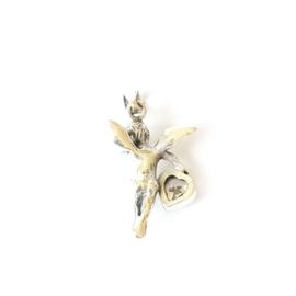 Zilveren engel met zirkonia - Beschermengel hanger