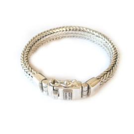 Armband Best to Buddha, gevlochten schakel 8 mm