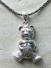 Assieraad sterling zilver 925 beertje, askoker, ashanger