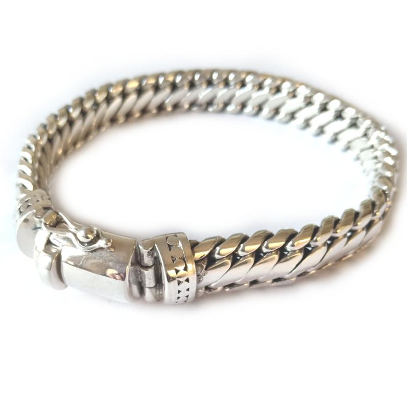 Armband zilver, stoere heren armband