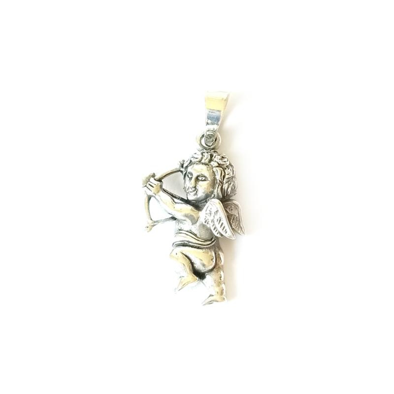 Hanger engeltje - Cupido zilver